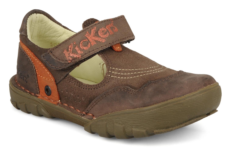 Sandales et nu-pieds Kickers Racky Marron vue détail/paire