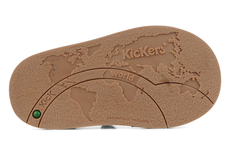 Sandales et nu-pieds Kickers Woopy Beige vue haut