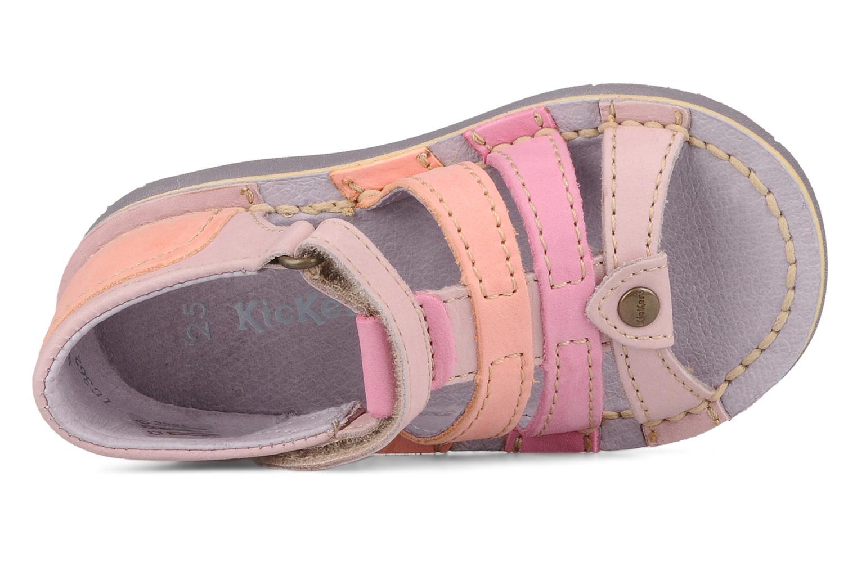 Sandales et nu-pieds Kickers Woopy Violet vue gauche
