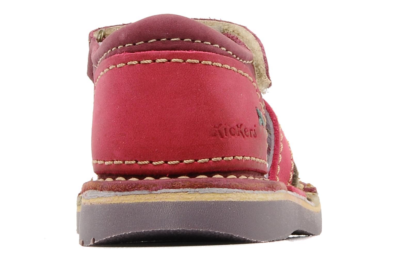 Sandales et nu-pieds Kickers Woopy Violet vue droite
