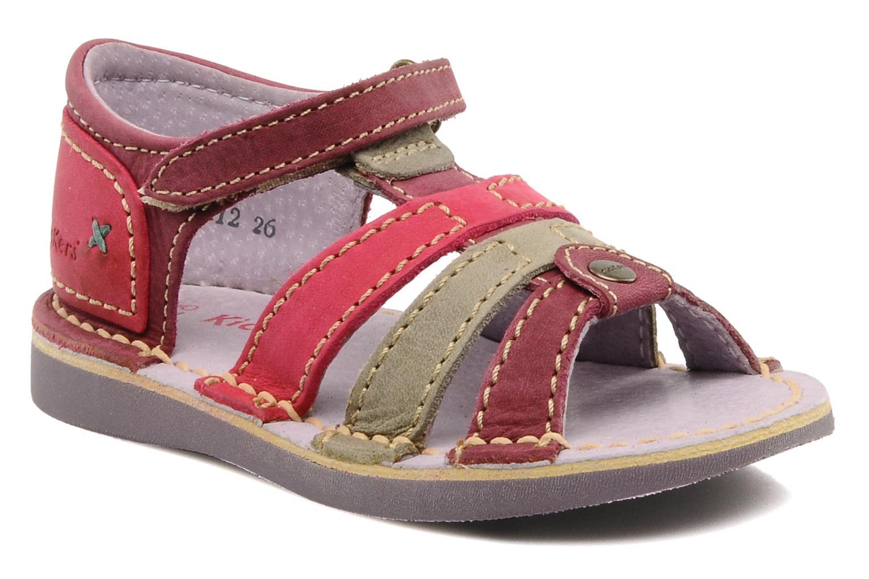 Sandales et nu-pieds Kickers Woopy Violet vue détail/paire