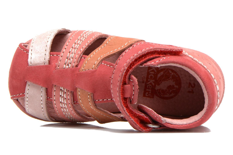 Sandales et nu-pieds Kickers Babysun Rouge vue gauche