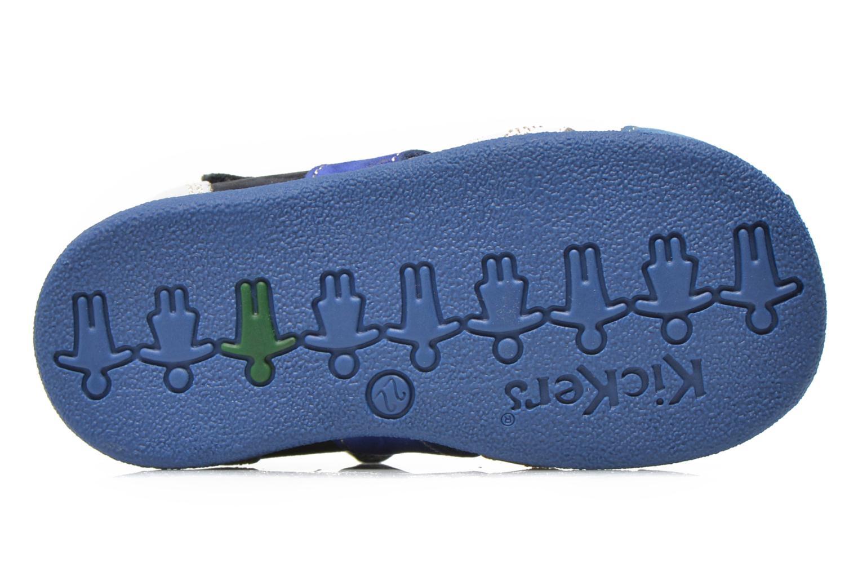 Sandales et nu-pieds Kickers Babysun Bleu vue haut