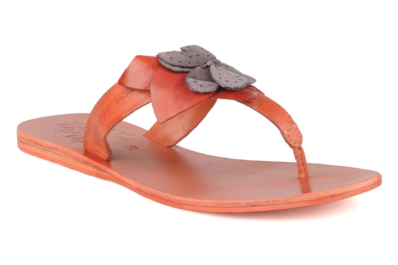 Tongs Kickers Boa Orange vue détail/paire