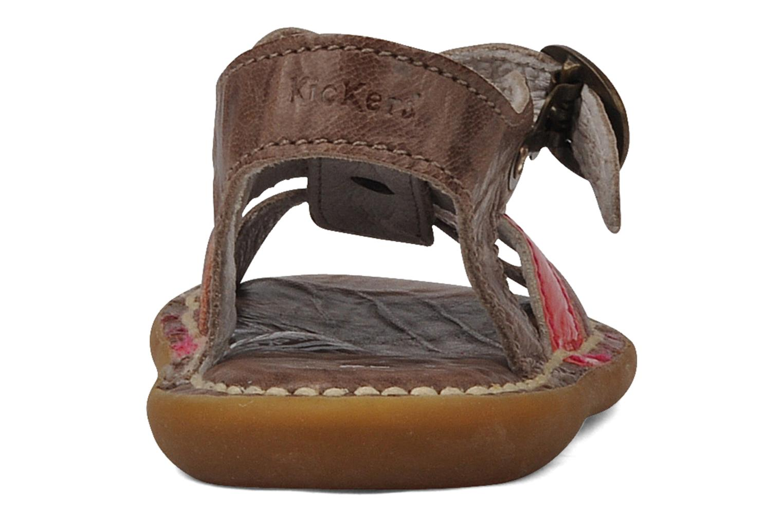 Sandales et nu-pieds Kickers Milki Marron vue droite