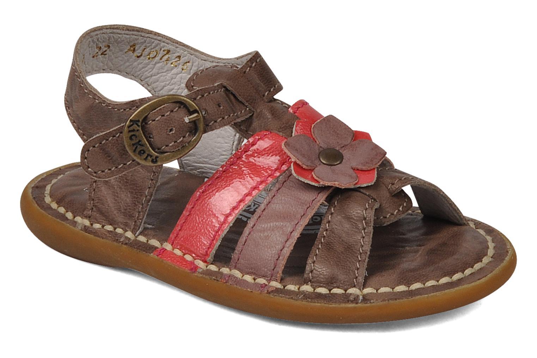 Sandales et nu-pieds Kickers Milki Marron vue détail/paire