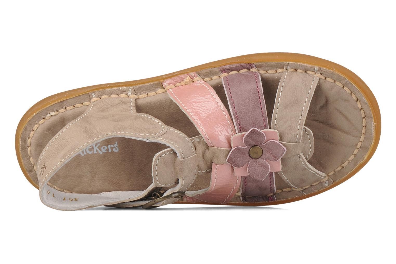 Sandales et nu-pieds Kickers Milki Beige vue gauche