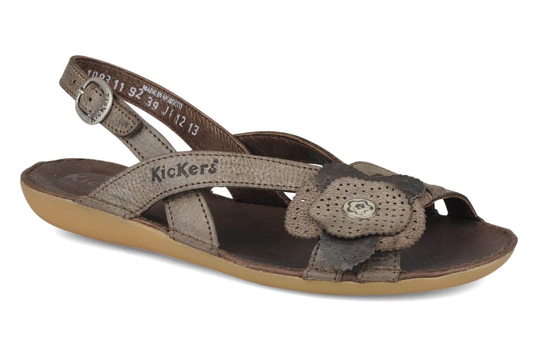 Sandales et nu-pieds Kickers Expedito Marron vue détail/paire