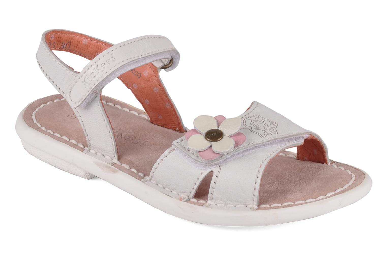 Sandales et nu-pieds Kickers Monday Blanc vue détail/paire