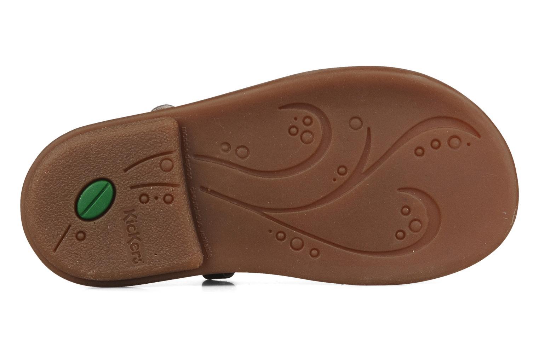 Sandales et nu-pieds Kickers Monday Marron vue haut