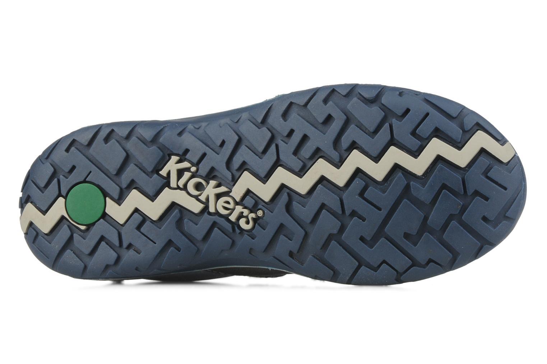 Chaussures à scratch Kickers Spred Bleu vue haut