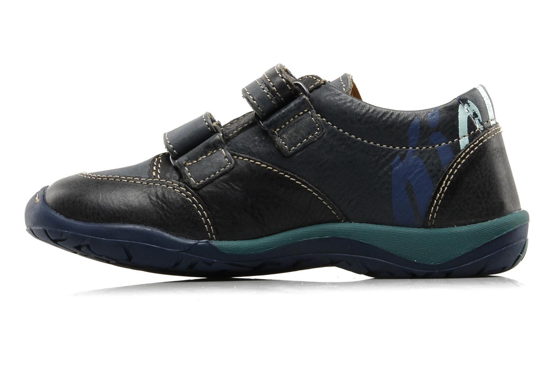 Chaussures à scratch Kickers Spred Bleu vue face