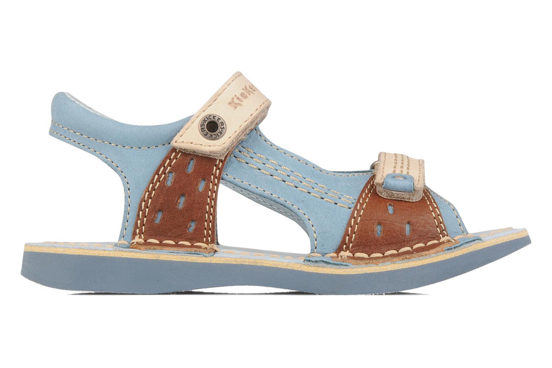 Sandales et nu-pieds Kickers Woaza Bleu vue derrière