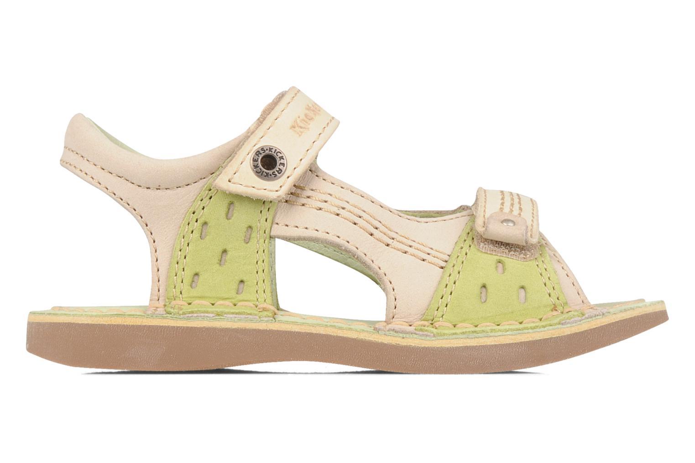 Sandales et nu-pieds Kickers Woaza Vert vue derrière