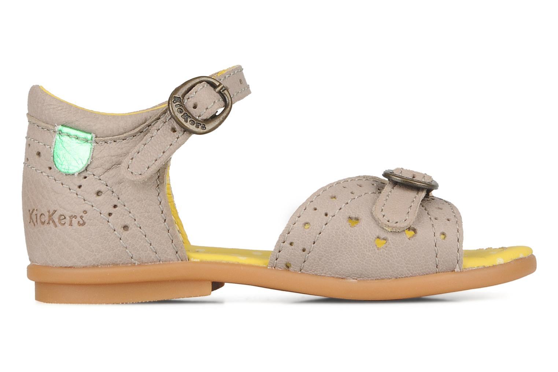 Sandales et nu-pieds Kickers Stella Gris vue derrière