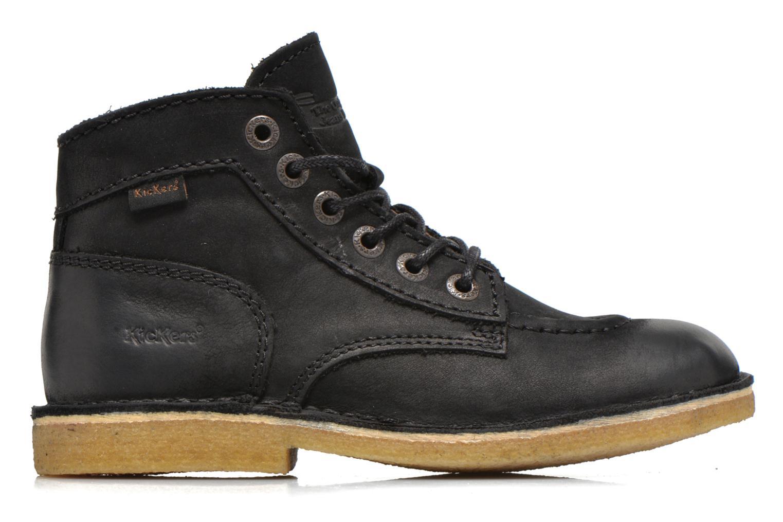 Zapatos con cordones Kickers Kick legend Negro vistra trasera