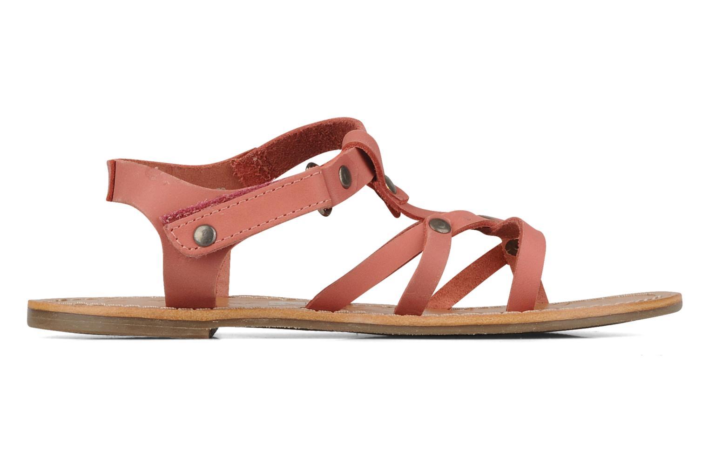 Sandales et nu-pieds Kickers Dialecta Rose vue derrière