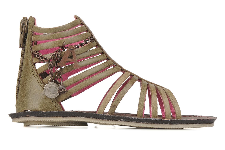 Sandales et nu-pieds Kickers Lilou Vert vue derrière