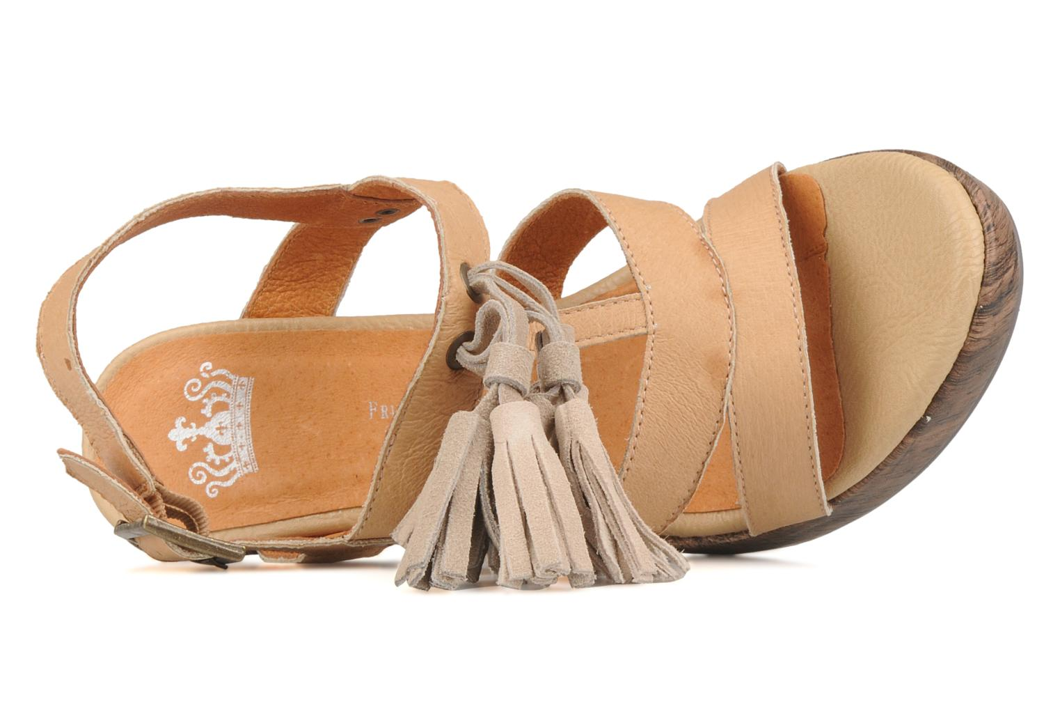Sandals Friis & company Zenika Beige view from the left