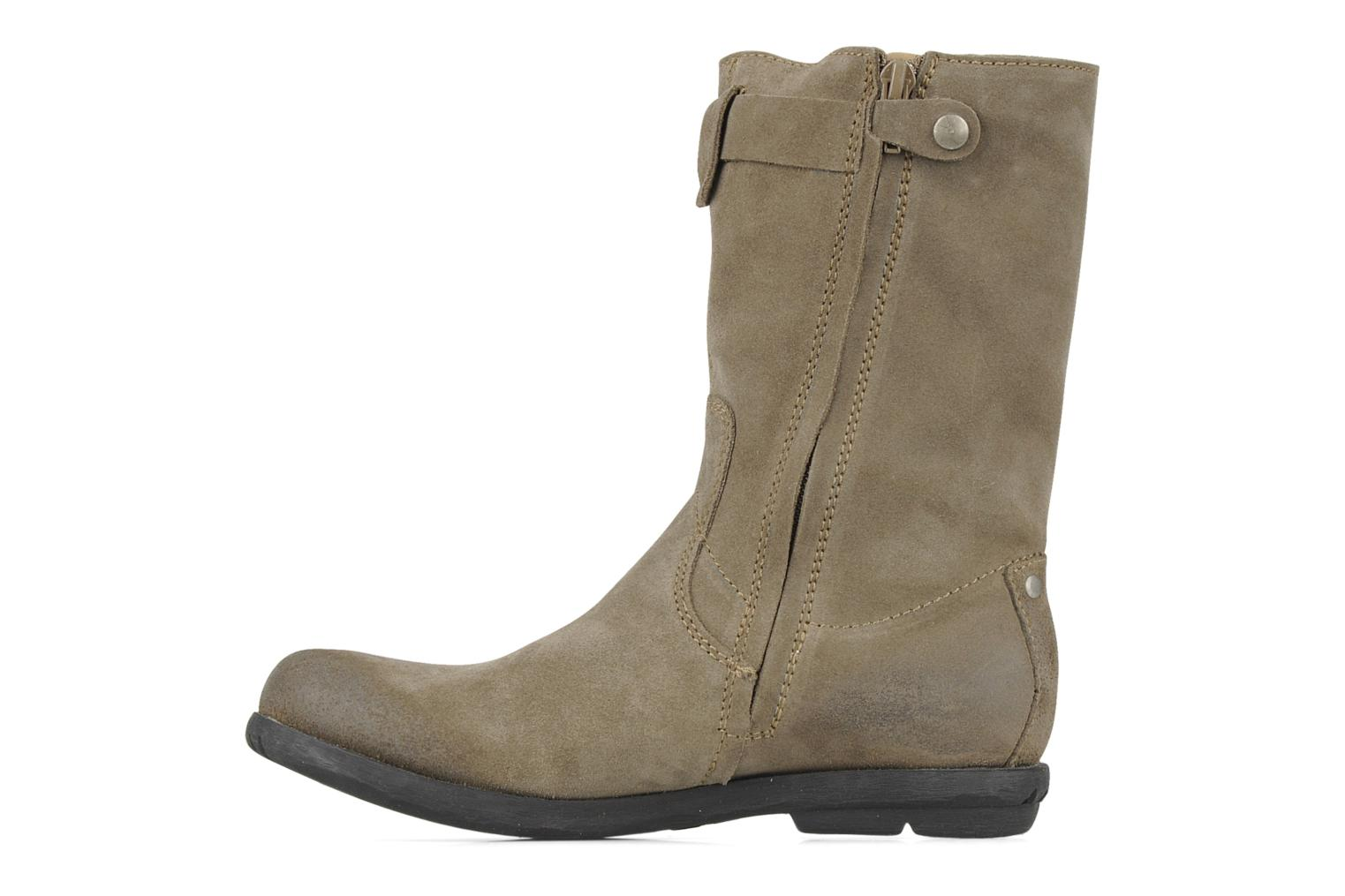 Bottes Palladium Daisy kid sud Marron vue face