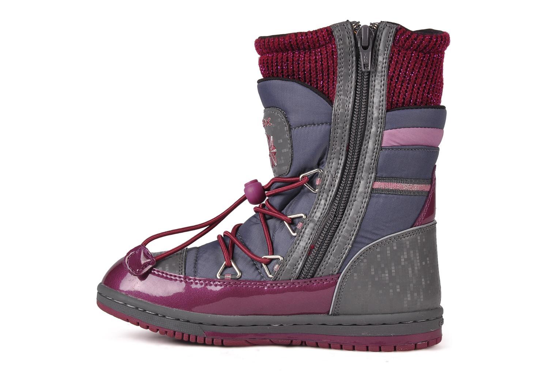 Bottines et boots Geox J glitter wp b Gris vue face