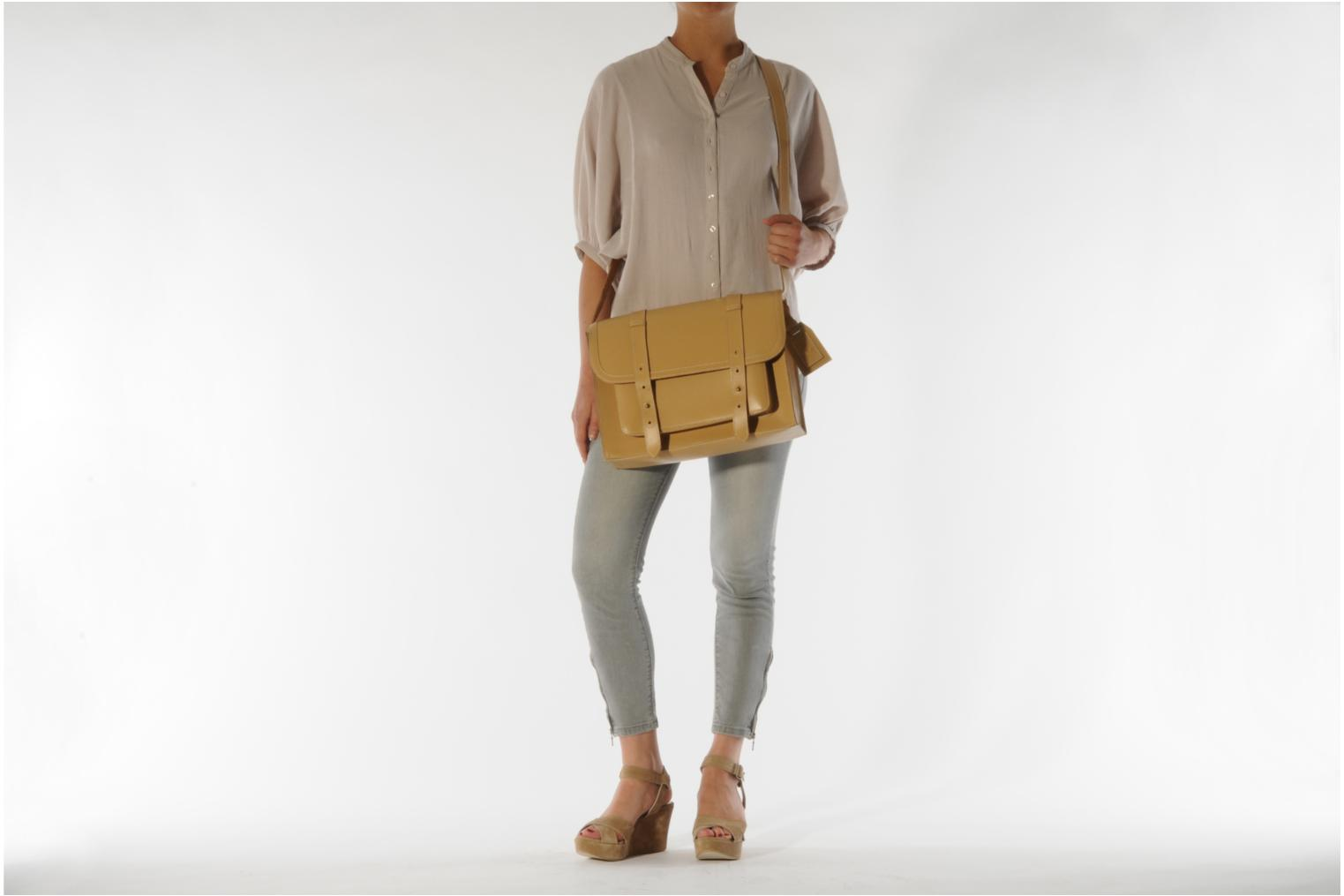 Handbags Friis & company Fold leather bag Beige view from above