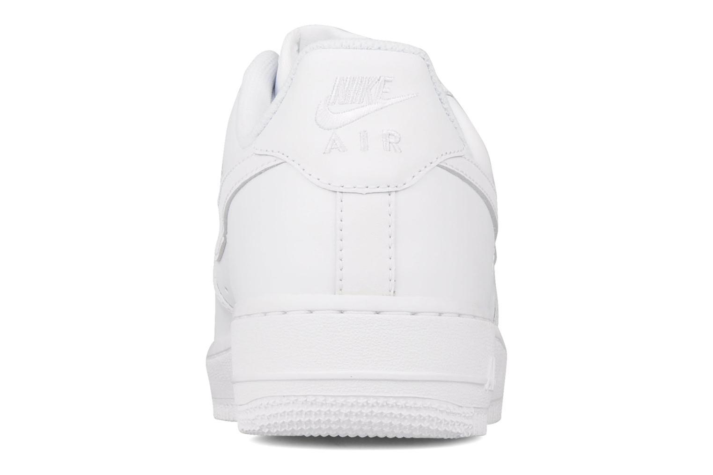 Deportivas Nike Air force 1 '07 le Blanco vista lateral derecha