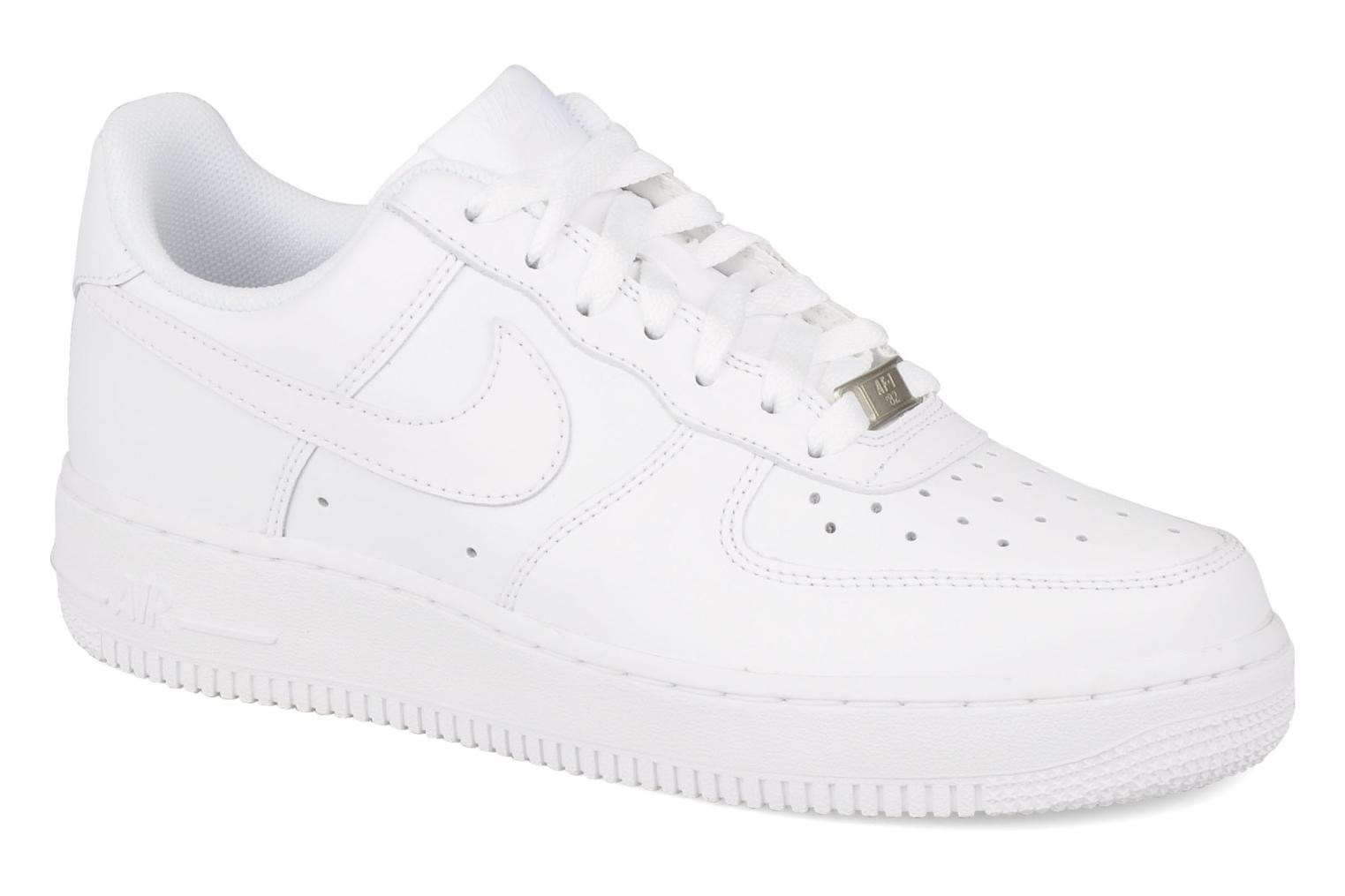 Baskets Nike Air force 1 '07 le Blanc vue détail/paire