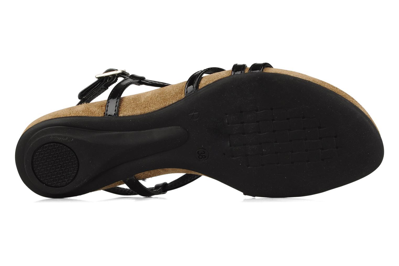 Sandalen Perlato Izalik schwarz ansicht von oben