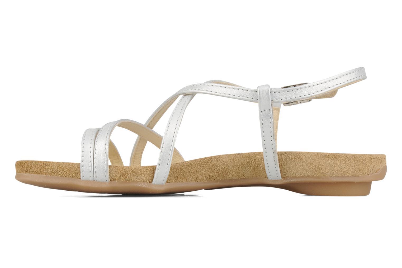 Sandalen Perlato Izalik silber ansicht von vorne
