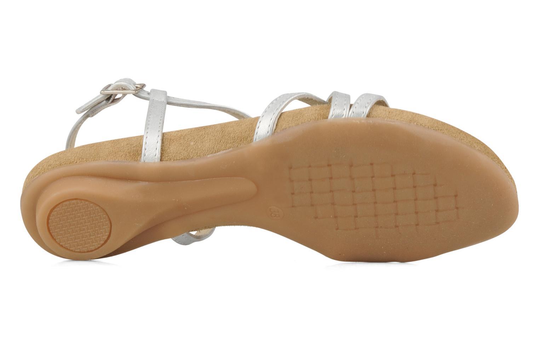 Sandalen Perlato Izalik silber ansicht von oben