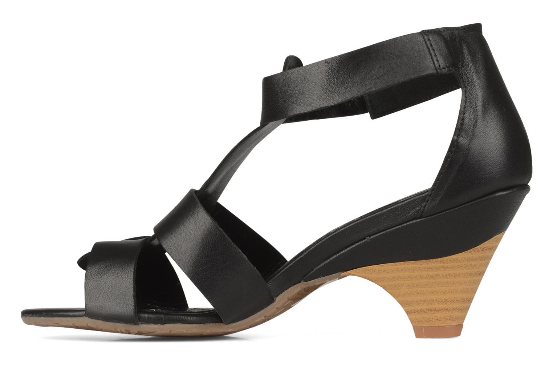 Sandales et nu-pieds Perlato Kusmi Noir vue face
