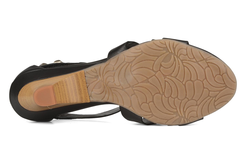 Sandales et nu-pieds Perlato Kusmi Noir vue haut