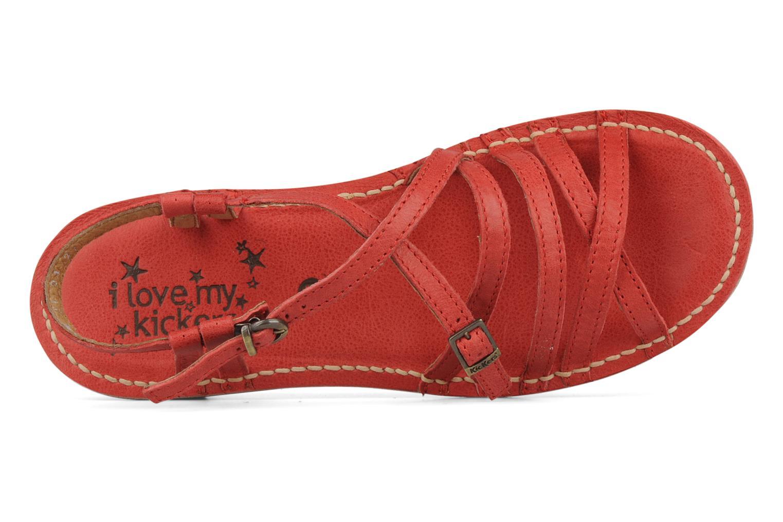 Sandales et nu-pieds Kickers Pinuts 2 Rouge vue gauche