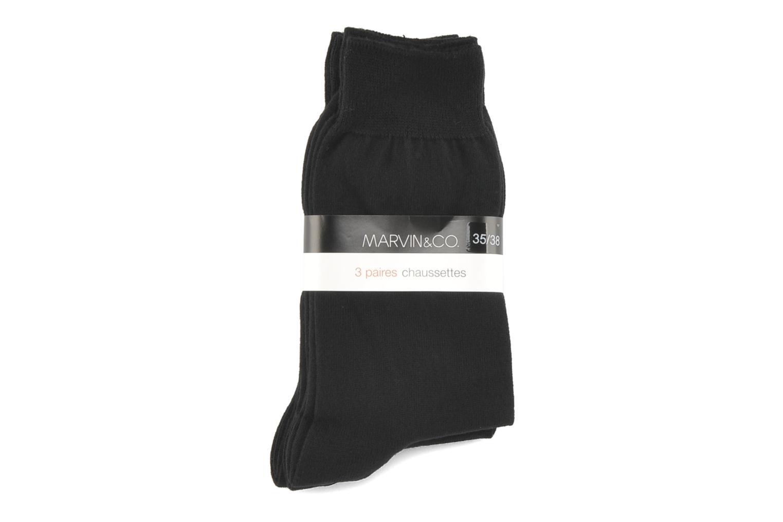 Medias y Calcetines Sarenza Wear Calcetines Pack 3 charles Negro vistra trasera