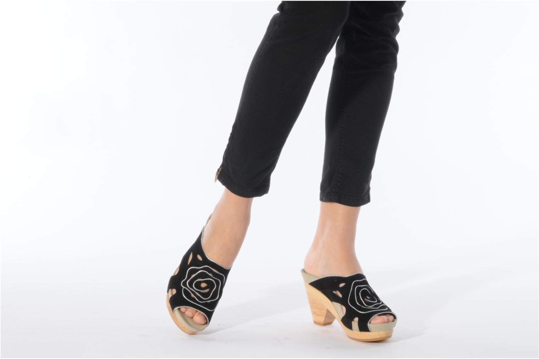 Clogs & Pantoletten Kalso Earth Tropez schwarz ansicht von unten / tasche getragen