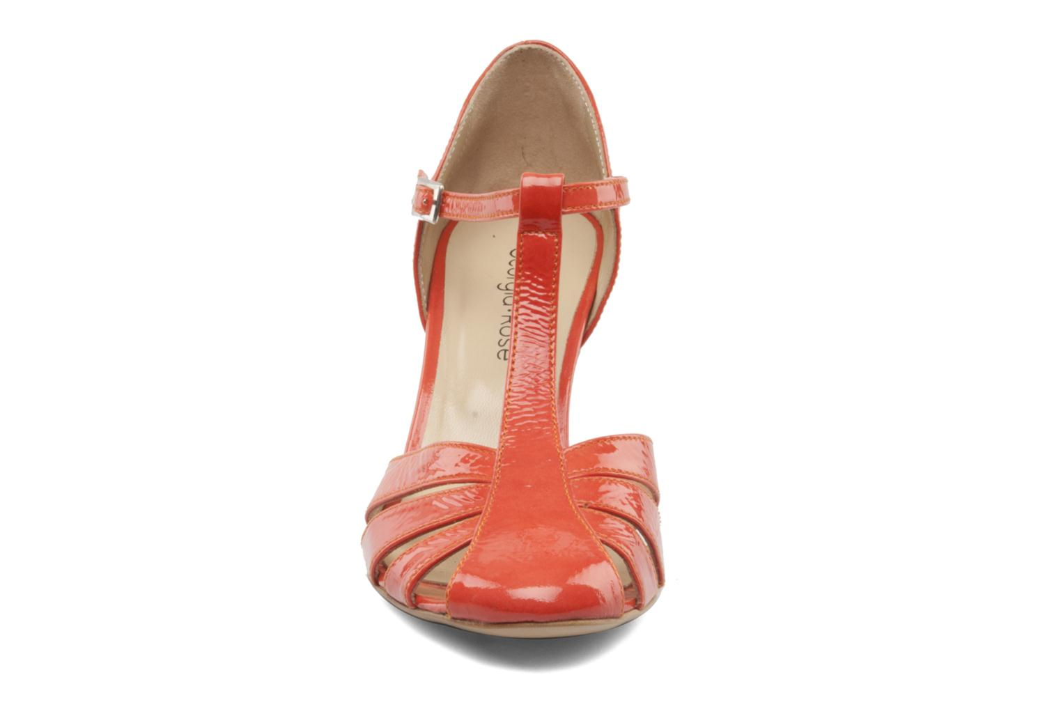 Pumps Georgia Rose Vareo orange schuhe getragen