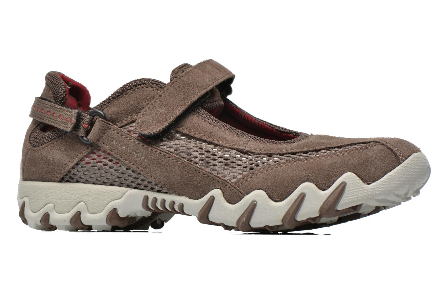 Sport shoes Allrounder by Mephisto Niro Brown back view