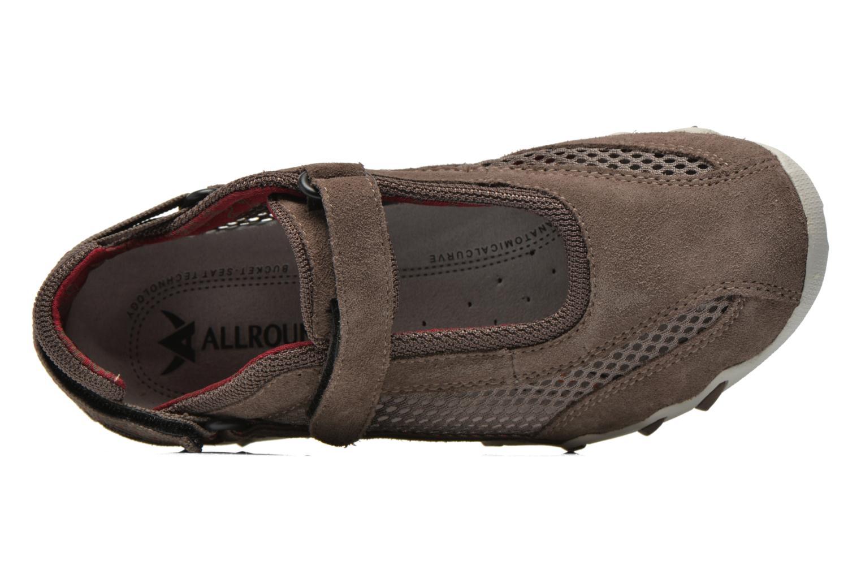 Scarpe sportive Allrounder by Mephisto Niro Marrone immagine sinistra
