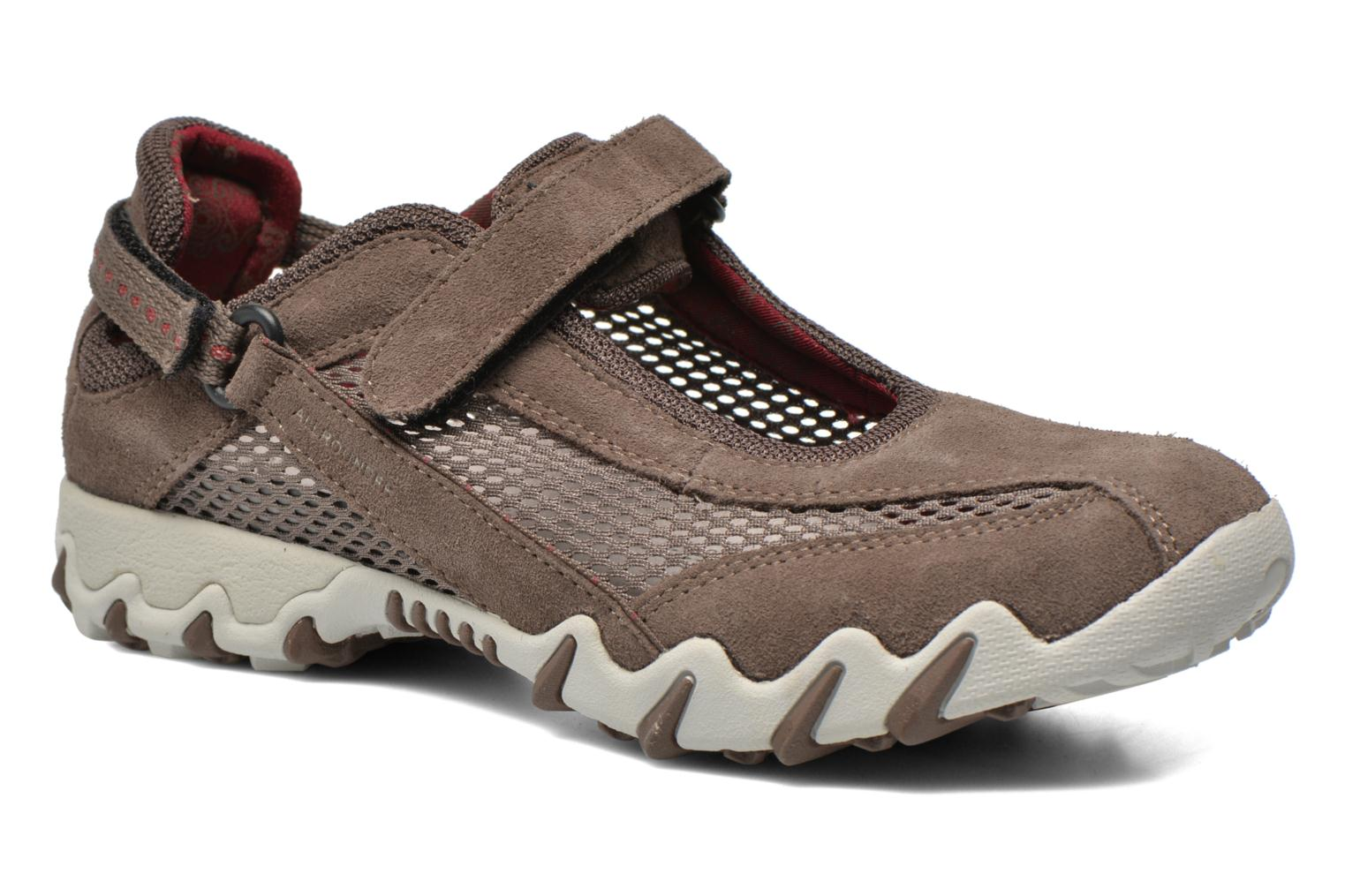 Sport shoes Allrounder by Mephisto Niro Brown detailed view/ Pair view