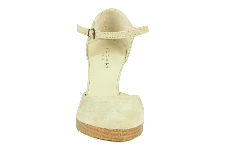 Escarpins Jonak Fuxia Beige vue portées chaussures