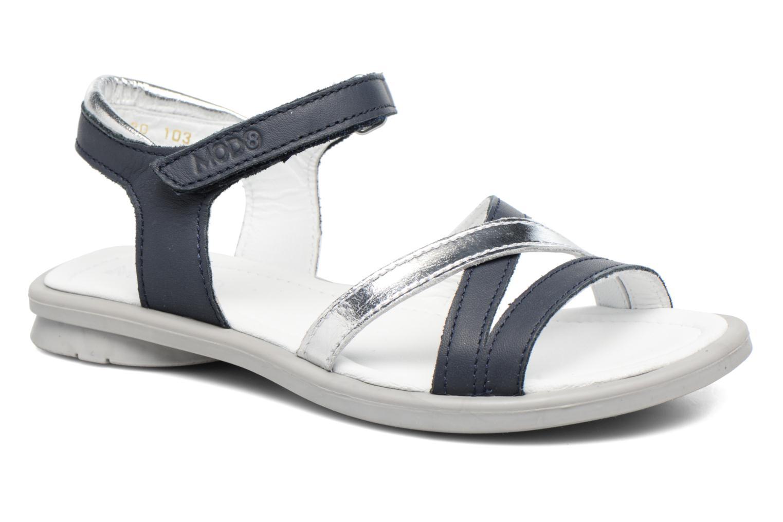 Sandals Mod8 Jelguy2 Blue detailed view/ Pair view