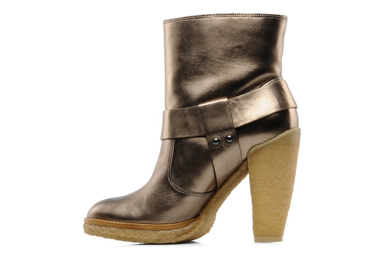 Bottines et boots Belle Tahira Or et bronze vue face