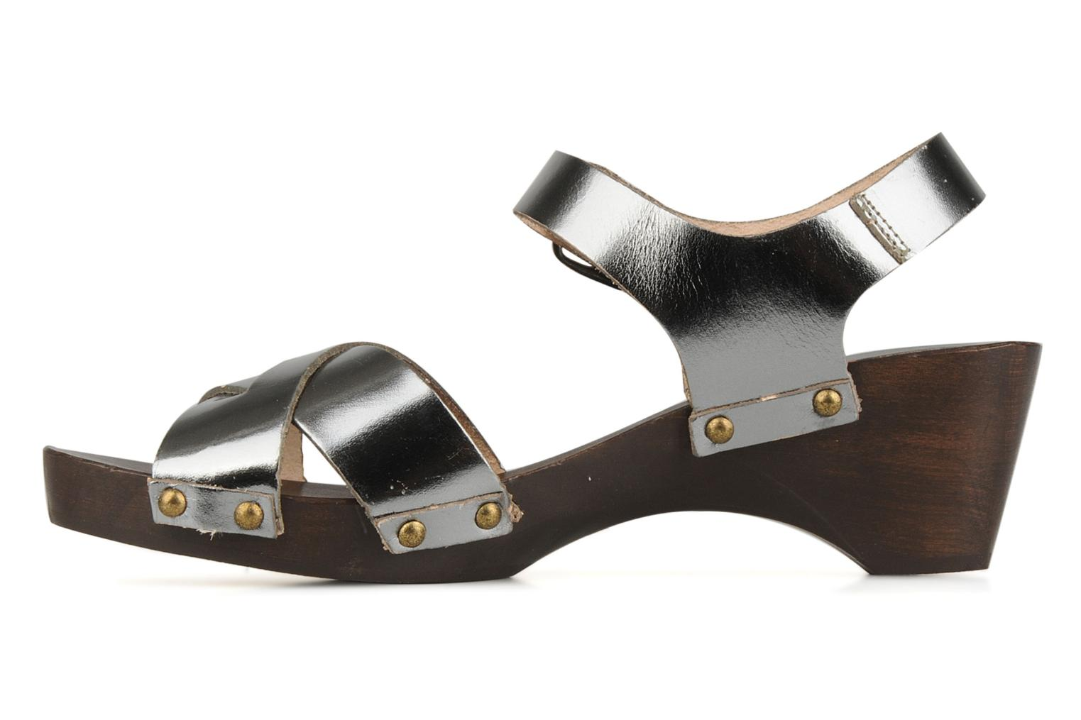 Sandals Bensimon Sandales exclu Silver front view