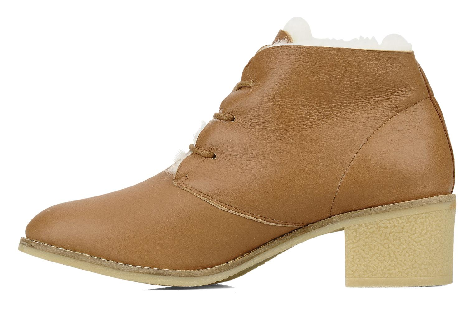 Lace-up shoes Mellow Yellow Kolchic Brown front view