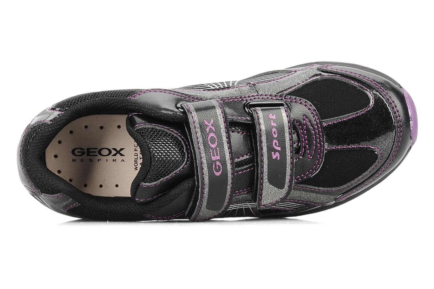Trainers Geox J noemi g Black view from the left