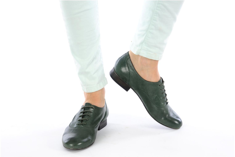 Chaussures à lacets Georgia Rose Messia Vert vue bas / vue portée sac