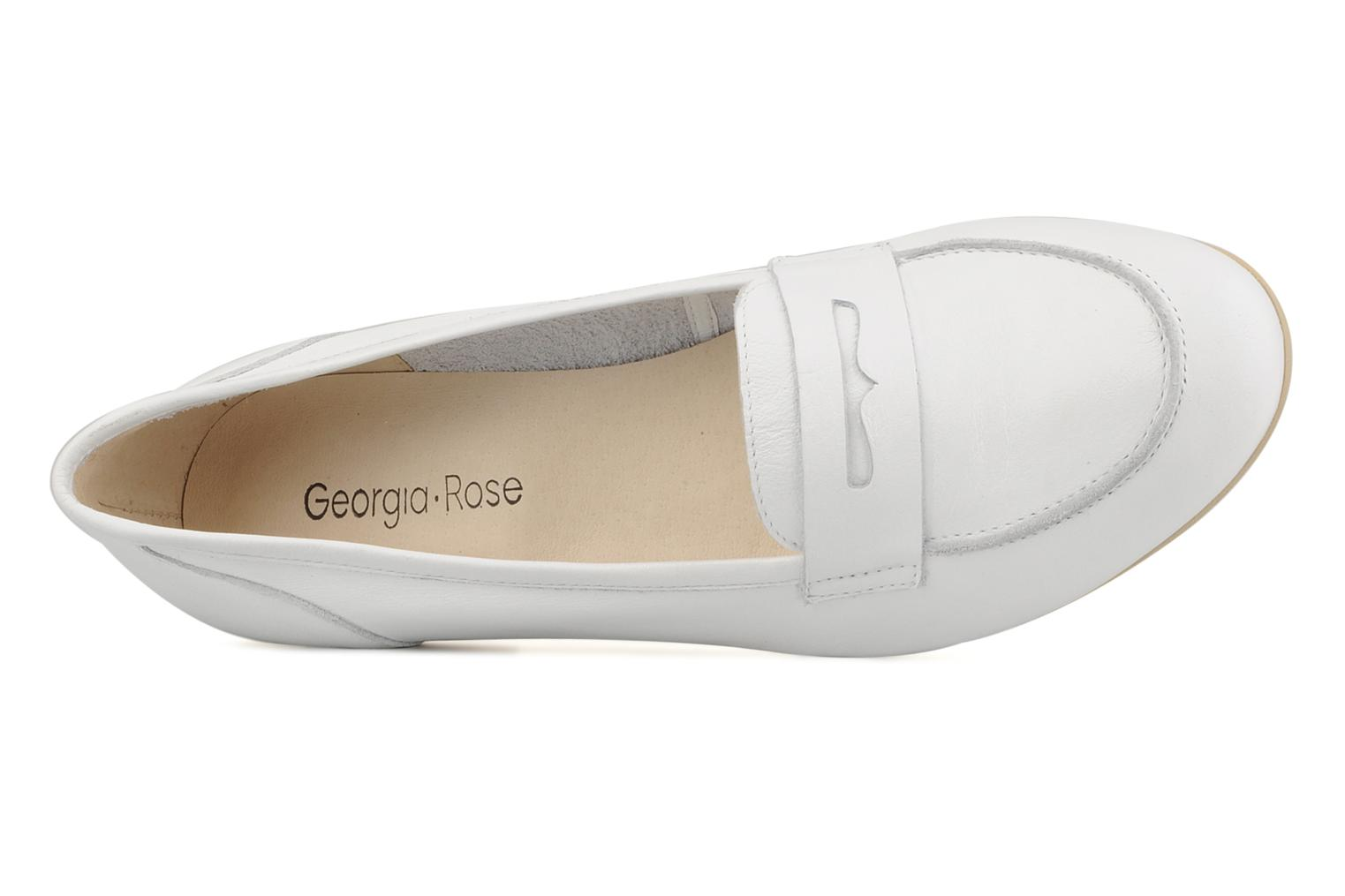 Loafers Georgia Rose Afuro White view from the left