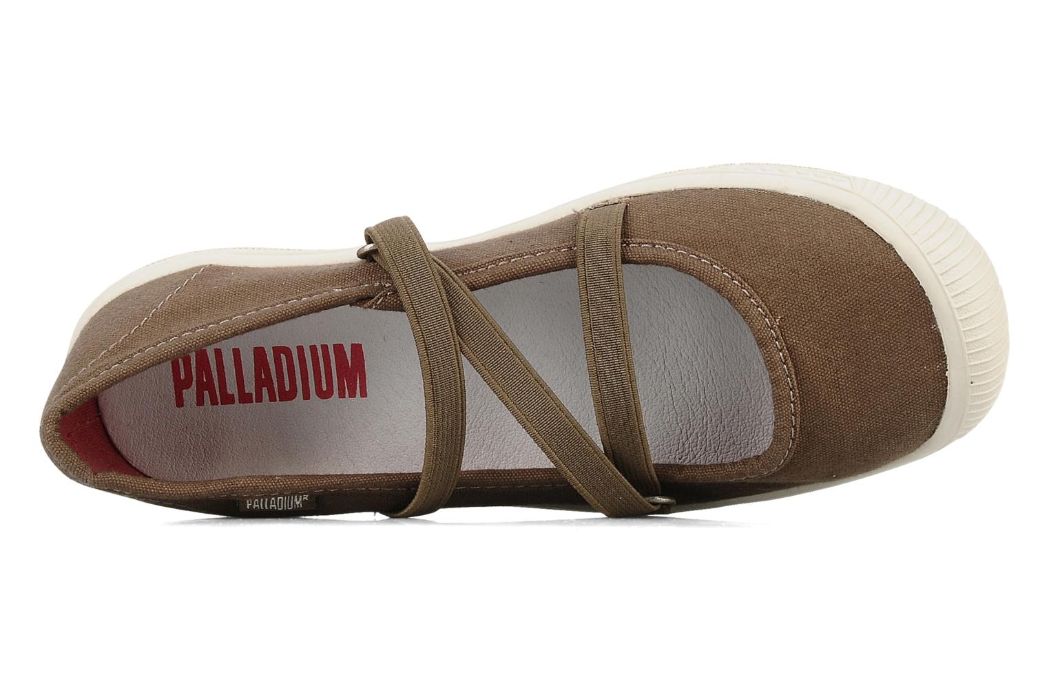 Ballet pumps Palladium Fresh Brown view from the left