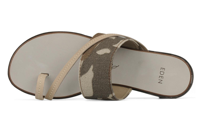 Sandales et nu-pieds Eden Tanza Vert vue gauche